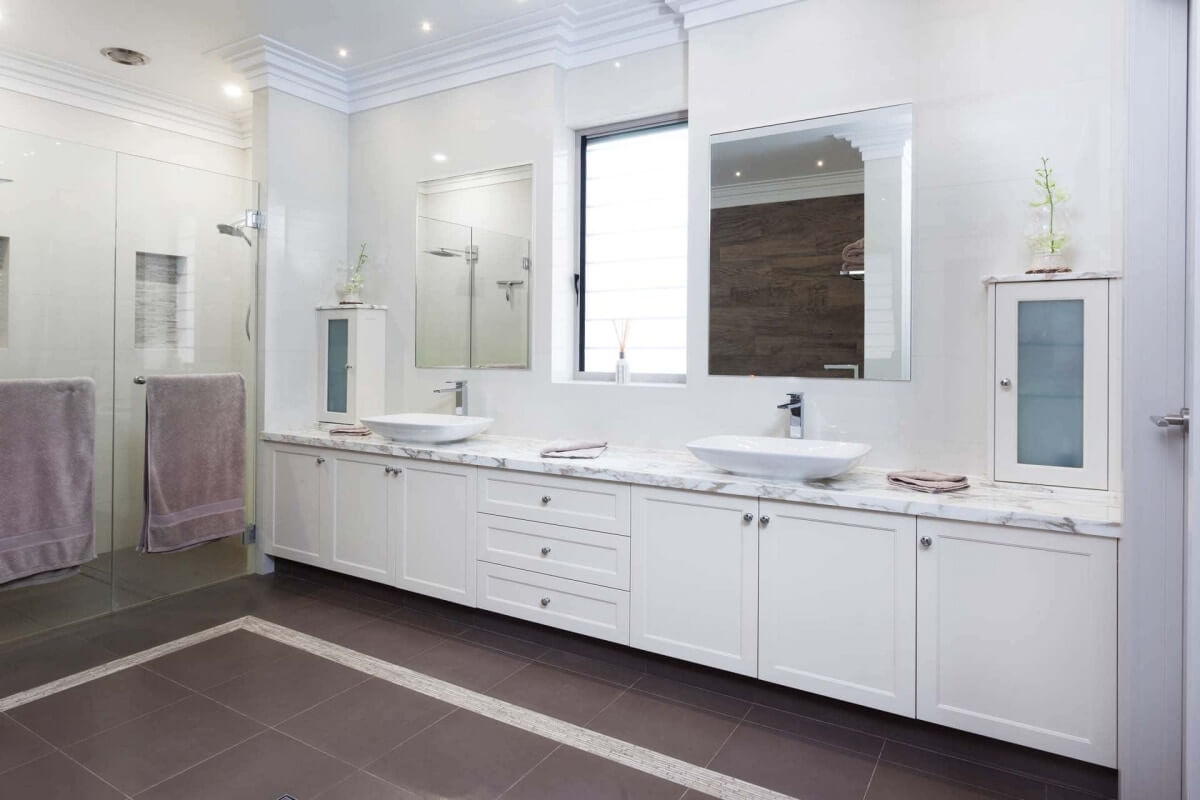 His and Hers Classic Bathroom Renovation