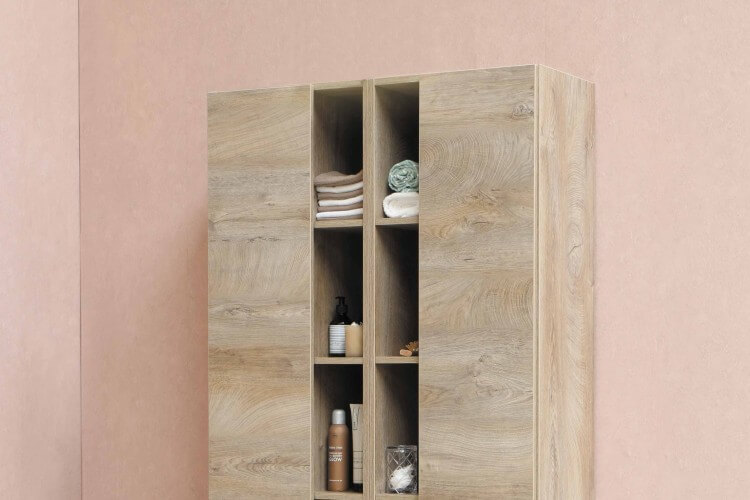 Laundry cabinets and shelves